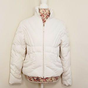 Nine West White Puffer Coat Women's Size Medium